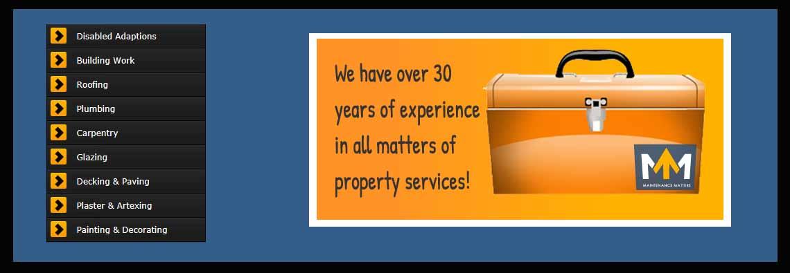 Maintenance Matters main page banner image